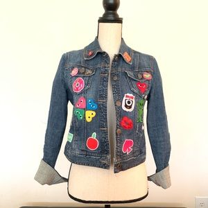 Jeans jacket with kate spade darcel patches